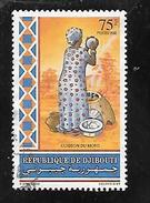 TIMBRE OBLITERE DE DJIBOUTI DE 1992 N° MICHEL A 570 RARE
