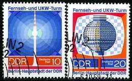 DDR - Michel 1509 / 1510 - OO Gestempelt (B) - Fernseh- Und UKW-Turm