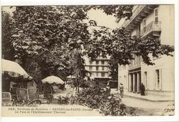 Carte Postale Ancienne  Brides Les Bains - Le Parc Et L'Etablissement Thermal - Thermes, Santé
