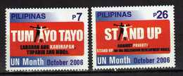 Philippines 2006 UN.United Nations Month - Stand Up Against Poverty.MNH - Philippines