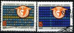DDR - Michel 1515 / 1516 - OO Gestempelt (A) - UFI Kongreß
