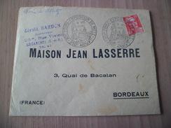 Lettre Du 08/10/1949 Pour Bordeaux 350éme Anniversaire De Metz XIV Foire Exposition Le N° 813 Seul  TB - Matasellos Conmemorativos