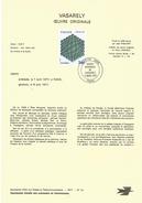 NOTICE PTT 1977 VASARELY - Documents De La Poste