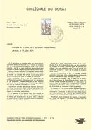NOTICE PTT 1977 COLLEGIALE DU DORAT HAUTE VIENNE - Documentos Del Correo