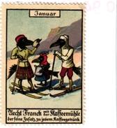 1 Sluitzegel Poster Stamp Pub  Franck Kaffee Dressed Animals SKI  4cmx5,5cm - Sports D'hiver