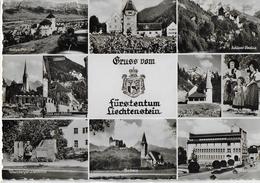 GRUSS VOM FURSTENTUM LIECHTENSTEIN - VARIE VEDUTE - VIAGGIATA FRANCOBOLLO ASPORTATO - Liechtenstein