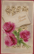 Card Kaart Gelukkig Nieuwjaar Celluloid Happy New Year Bonne Annee Nieuwjaarskaart - Faire-part