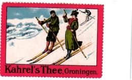 1 Sluitzegel Poster Stamp Pub  Kahrel S Thee Groningen SKI  4cmx 6cm - Sports D'hiver