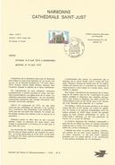NOTICE PTT 1972 CATHEDRALE SAINT JUST DE NARBONNE AUDE - Postdokumente
