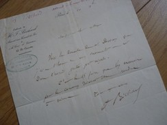 Ferdinand BECHARD (1799-1870) Député NIMES (Gard) Avocat Aux Conseils Du Roi. AUTOGRAPHE - Autógrafos
