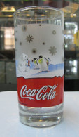 AC - COCA COLA POLAR BEAR AND PENGUEN ILLUSTRATED GLASS FROM TURKEY - Mugs & Glasses