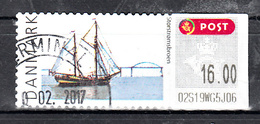 "Denemarken 2007 , Mi Nr 39, ATM Schip ""De Tukker"" Ship, Value 16.00 Kr"