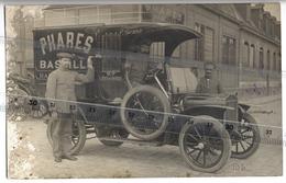 75 - PARIS - CARTE PHOTO - PHARES  BASTILLE  - Voiture De Livraison Du Magasin  - 1925 - France