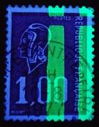 1,00F Rouge Marianne De Béquet Oblitéré Avec 2 Barres Phospho à Droite