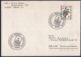 AZ239       Brief Von Neus BRD In Stralsund DDR - 100 Jahre Deutsche Skatkongresse FDC 1986