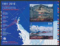 ARGENTINA 2016 Antarctic Treaty 25° Anniversary Minisheet** - Blocchi & Foglietti