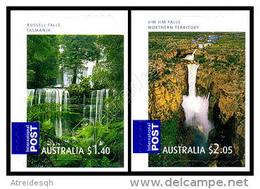 Australia 2008: 2 Val. Cascate Autoadesivi / Waterfalls, 2 Self-adhesive Stamps **