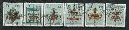 DDR-RDA - N°  2893 à 2898 - Lustres Ornementaux  - O