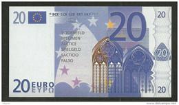 "Test Note ""neutral"" Testnote, POLYMER, 20 EURO, Typ C, 100 X 56 Mm, Training, RRR, UNC, Billet Scolaire - EURO"
