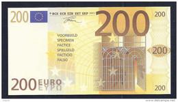 "Test Note ""neutral"" Testnote, POLYMER, 200 EURO, Typ C, 115 X 62 Mm, Training, RRR, UNC, Billet Scolaire - EURO"