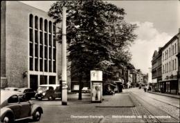 Cp Sterkrade Oberhausen Nordrhein Westfalen, Steinbrinkstraße Mit St. Clemenskirche, Litfaßsäule - Autres