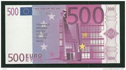 "Test Note ""neutral"" Testnote, POLYMER, 500 EURO, Typ C, 120 X 62 Mm, Training, RRR, UNC, Billet Scolaire - EURO"