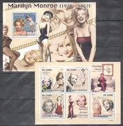 D176 2009 T S.TOME E PRINCIPE FAMOUS PEOPLE MARILYN MONROE KB+BL MNH