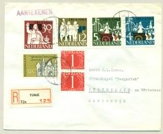 Nederland - 1964 - 7 Zegels En Tuberculose Zegel Op R-cover Van Tijnje Naar Portschach / Österreich - Briefe U. Dokumente