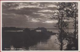 Sweden Sverige Zweden Suède Schweden Ringsjon Afton Vid Stranden Västra Ringsjön CARTE PHOTO Photocard Real Photo - Suède