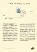 NOTICE PTT 1971 SAINTE CHAPELLE DE RIOM PUY DE DOME - Documents De La Poste