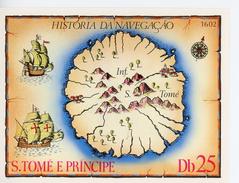 Sao Tome 1979-Histoire Maritime, Carte,caravelle MI B38***MNH - Cristoforo Colombo