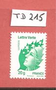 France, 4593b, Type II, 4593, 1er Tirage, TD 215, Presse Epikos, Neuf **, TTB, Marianne De Beaujard, Lettre Verte