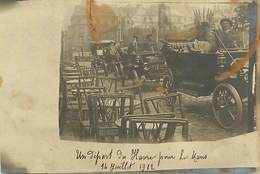 A-17-3871 : DEPART DES AUTOMOBILES DU HAVRE POUR SE RENDRE AU MANS. 14 JUILLET 1912 . CARTE-PHOTO - Le Havre