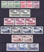 ** Tchécoslovaquie 1930 Mi 303-10 A (Yv PA 10-17), (MNH) Tout Les Types Et Couleurs;