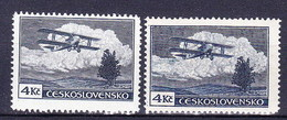 ** Tchécoslovaquie 1930 Mi 307 A (Yv PA 14), (MNH) Type I Et II