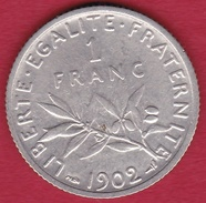 France 1 Franc Semeuse Argent 1902 - France