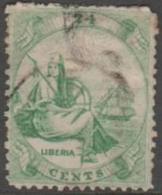 LIBERIA -  1860 24c Liberia. Scott 9. Used - Liberia