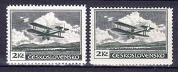 ** Tchécoslovaquie 1930 Mi 305 A (Yv PA 12), (MNH) Type I+II