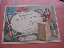 12 Cards Litho C1900 Bognard - 6 Red Bordered (no Pub) & Et 6 Cards No Border (pub) - ASSIGNATS Money Banknotes - Chromos