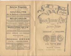 """Bulletin Mensuel """"Union Jeanne D'Arc"""" Des Jeunes Filles Du Diocèse De CHALONS-sur-MARNE  (Otobre 1929) - Documents Historiques"""