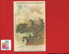Chocolat Louit Ruines Historiques De France Jolie Chromo ILLUSTRATEUR FAG ILE YEU Vendée Château Fort Lieu De Refuge - Louit