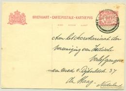 Nederlands Indië - 1935 - 10 Cent Briefkaart Cijfer, G49 Van PV Djokjakarta Naar Den Haag / Nederland - Nederlands-Indië