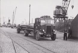 Postcard 1934 Leyland Beaver Flatbed Lorry + Trailer Ulster Transport Billingham - Trucks, Vans &  Lorries
