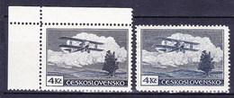 ** Tchécoslovaquie 1930 Mi 307 A (Yv PA 14), (MNH) Type I Et II Bleu-gris Et Bleu