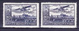 ** Tchécoslovaquie 1930 Mi 310 A+B (Yv PA 17), (MNH) Dentelé 13 3/4 Et 12 1/4