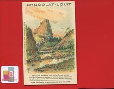 Chocolat Louit Ruines Historiques De France Jolie Chromo ILLUSTRATEUR FAG Château USSON AX LES THERMES AUDE - Louit