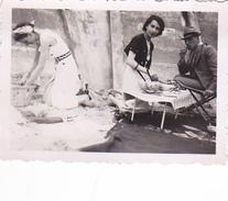 26114 Trois 3 Photo Erquy (22 France ) -la Plage 26 Juin 1938 -Rennes 35 Enfant  Villa Famille -pique Nique