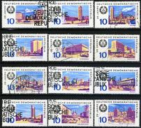 DDR - Michel 1495 / 1506 - OO Gestempelt (B) - 20 Jahre DDR