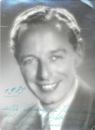 GIULIO GALLIANI ATTORE ITALIANO AUTOGRAPHE SUR PHOTO  FOTO SCHONFELD OBTENIDA EN BUENOS AIRES ARGENTINA - Autographes