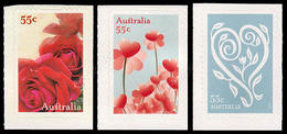 Australia 2009: 3 Val. Amore Autoadesivi / Love, 3 Self-adhesive Stamps  **